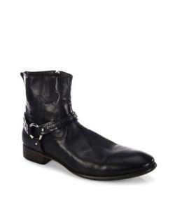 John Varvatos | Eldridge Harness Leather Ankle Boots