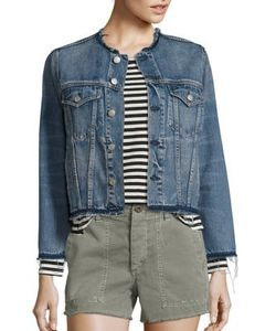 Amo | Lola Distressed Denim Jacket