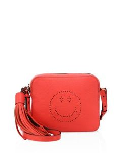 Anya Hindmarch | Smiley Leather Crossbody Bag