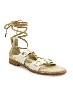 Rag & Bone   Evelyn Leather Lace-Up Sandals