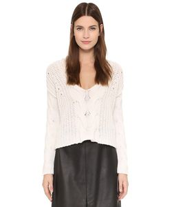 Tess Giberson | Exaggerated Crop V Neck Sweater