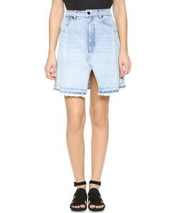 Denim x Alexander Wang | Pleated Miniskirt