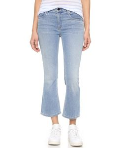 Denim x Alexander Wang | Trap Flex Cropped Stretch Boot Cut Jeans