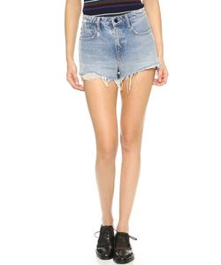 Denim x Alexander Wang | Bite High Rise Frayed Shorts