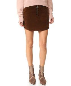 Aeron | Velvet Zip Miniskirt