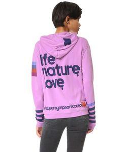 Freecity | Life Nature Love Sherpa Zip Up Hoodie