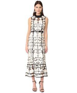 Marchesa Notte | Вечернее Платье Без Рукавов С Цветочным Рисунком
