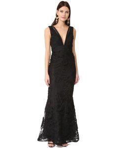 Marchesa Notte | Вечернее Платье С Глубоким V-Образным Вырезом
