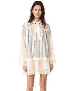 Anna Sui | Кружевное Платье С Вышивкой Strip