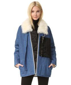 Sandy Liang   Пальто С Citroen Короткая Шерсть.