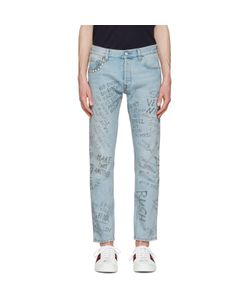 Gucci | Studded Scribble Jeans