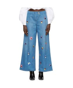 Christopher Kane | Embroide Baggy Jeans