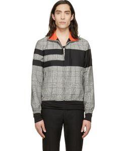 Kris Van Assche | Black Check And Stripe Wool Jacket