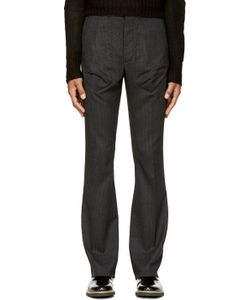 Siki Im | Black Houndstooth Boot-Cut Trousers