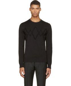 Kris Van Assche | Black Diamond Appliqué Sweater
