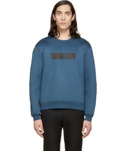 Kris Van Assche | Ssense Exclusive Blue Painted Stripe Sweatshirt