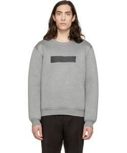 Kris Van Assche | Grey Painted Stripe Sweatshirt