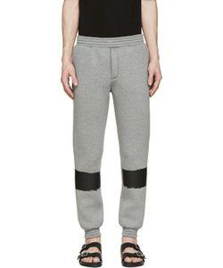 Kris Van Assche | Grey Painted Stripe Lounge Pants