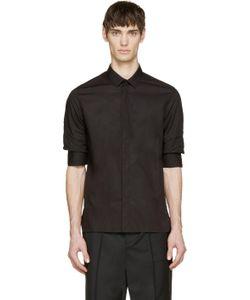 Kris Van Assche | Black Gathered Sleeve Shirt