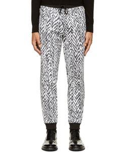 Kris Van Assche | Black And White Chevron Lounge Pants