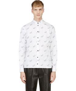 Kris Van Assche | White Paisley Pattern Button Down Shirt