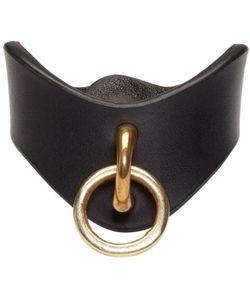 Fleet Ilya   Black Leather O-Ring Cuff