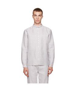 Phoebe English   Grey And White Striped Shirt