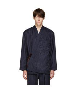 Umit Benan | Pinstripe Kimono Jacket