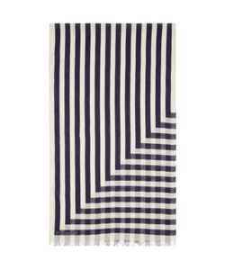 Undecorated Man | And Navy Linen Striped Scarf