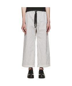 Phoebe English   And White Wide-Leg Trousers