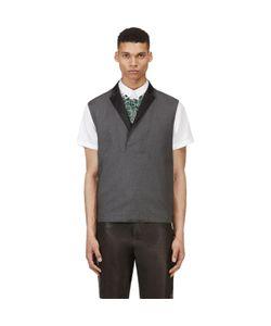 Kris Van Assche | Krisvanassche Wool Diamond Pinstripe Vest
