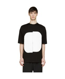 Cy Choi | And White Vinyl Plaque T-Shirt