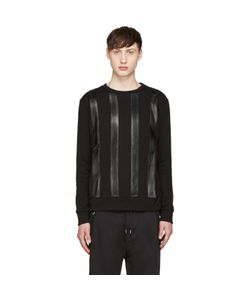 Giuliano Fujiwara | Leather Striped Pullover