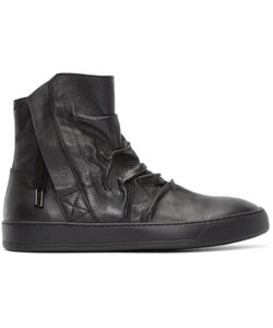 Alexandre Plokhov | Creased Leather High-Top Sneakers