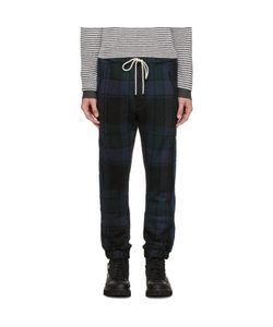Umit Benan | And Green Wool Check Jogging Pants