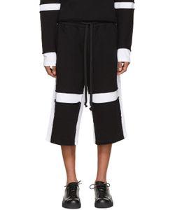 Ueg | Black And White Sliced Lounge Shorts