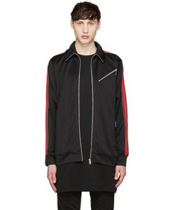99 Is | 99 Is Black And Red Track Zip Jacket