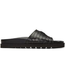 Giuseppe Zanotti | Python-Embossed Slide Sandals