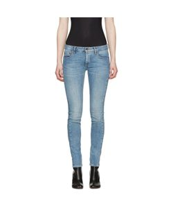Off-White | Diagonal Roses Skinny Jeans