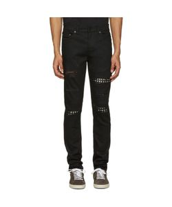 Saint Laurent | Studded Low Waisted Skinny Jeans