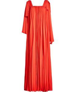Elie Saab | Pleated Crepe Maxi Dress Gr. Fr 36