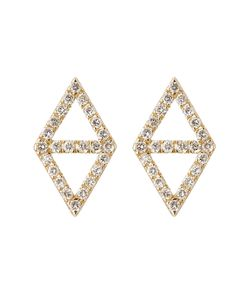 Lito | 14kt Yellow Gold Earrings With White Diamonds Gr. One Size