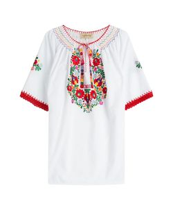Muzungu Sisters | Embroidered Cotton Top Gr. L