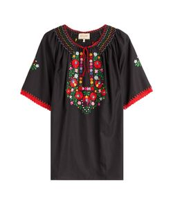 Muzungu Sisters | Embroidered Cotton Top Gr. S