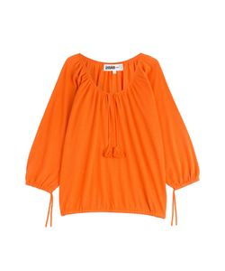 Claudia Schiffer for TSE   Bracelet Sleeve Peasant Cashmere Pullover Gr. S