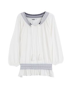 Claudia Schiffer for TSE   Cashmere Knit Peasant Top Gr. S