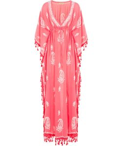 Muzungu Sisters | Embroidered Cotton Caftan Gr. One Size
