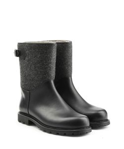Ludwig Reiter | Leather And Felt Ankle Boots Gr. Uk 8