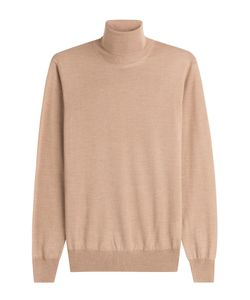 Jil Sander | Wool Turtleneck Pullover With Silk Gr. Eu 48