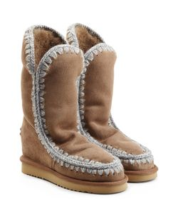 Mou | Eskimo Wedge Tall Sheepskin Boots Gr. Eu 40